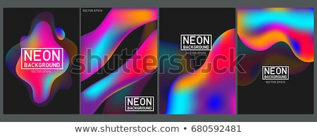 Illustration Rainbow of colors abstract colorful on black background. Stock photo © tussik