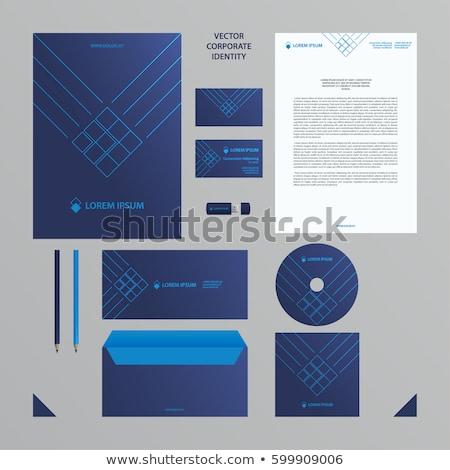 Briefkopf Design-Vorlage blau Pfeile Business Stil Stock foto © SArts