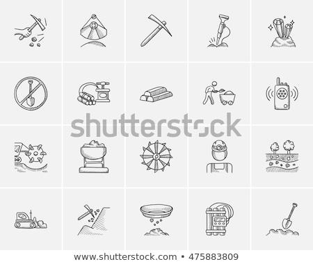 Dinamite esboço ícone vetor isolado Foto stock © RAStudio