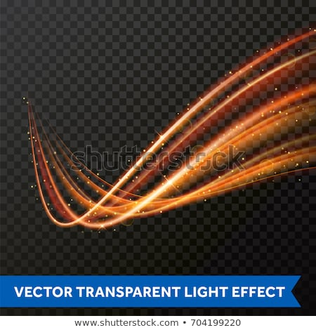 transparent light effect with curve trail and golden sparkles Stock photo © SArts