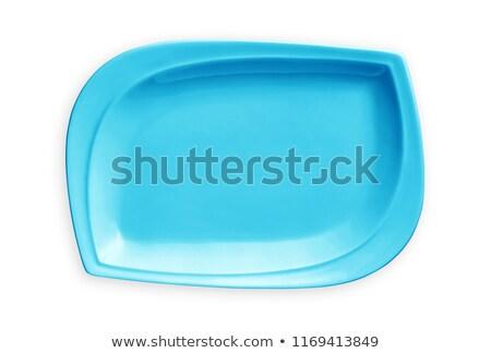 Luz azul praça prato raso limpar Foto stock © Digifoodstock