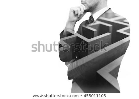 Jungen Geschäftsmann Business isoliert weiß Mann Stock foto © Elnur