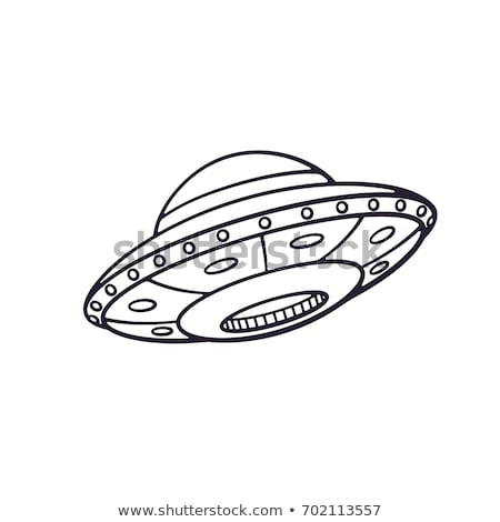 Tinta boceto exóticas astronave estilo dibujo Foto stock © cidepix