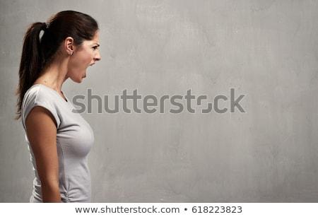 Angry woman profile Stock photo © Kurhan