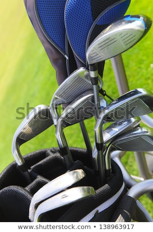Сток-фото: сумку · черный · подвесной · из · назад · гольфист