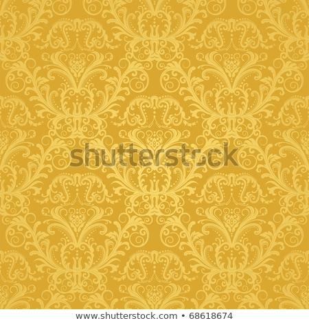 luxury golden floral wallpaper stock photo © fresh_5265954