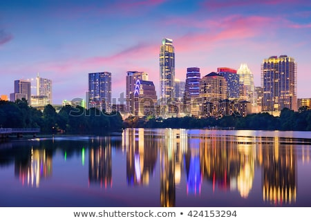 downtown austin texas at night stock photo © brandonseidel