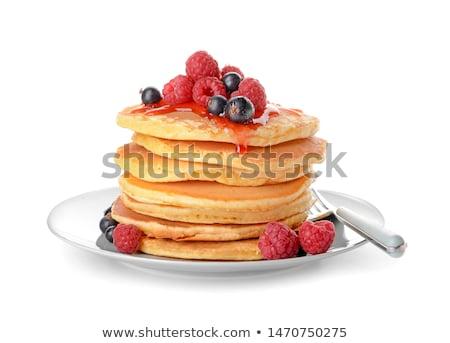 Pannenkoek bes siroop cake ontbijt maaltijd Stockfoto © M-studio