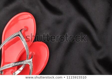 Nero scarpe top view isolato bianco Foto d'archivio © gsermek