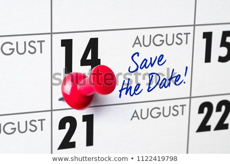 Save the Date written on a calendar - August 14 Stock photo © Zerbor
