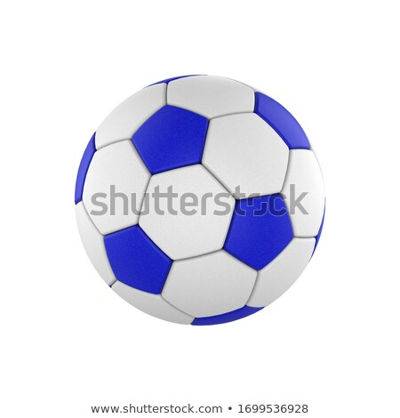 Foto d'archivio: Blue Soccer Ball And Players