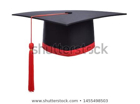 Graduation hat on white background stock photo © Epitavi