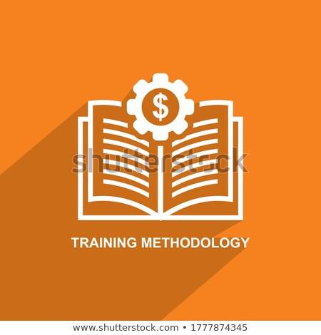 methodology concept green chalkboard with doodle icons stock photo © tashatuvango