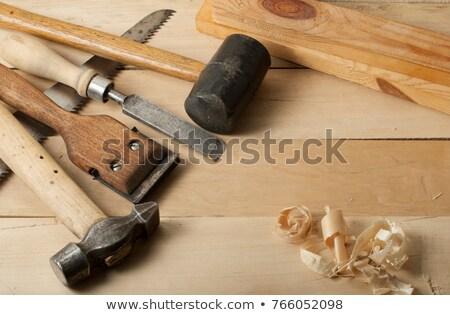 текста стороны инструменты деревянный стол мнение древесины Сток-фото © wavebreak_media