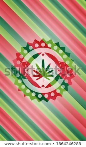 Natale cannabis congratulazione marijuana testo allegro Foto d'archivio © romvo