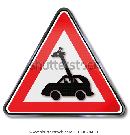 Girafa condução carro rodovia 3d render ilustração Foto stock © orla