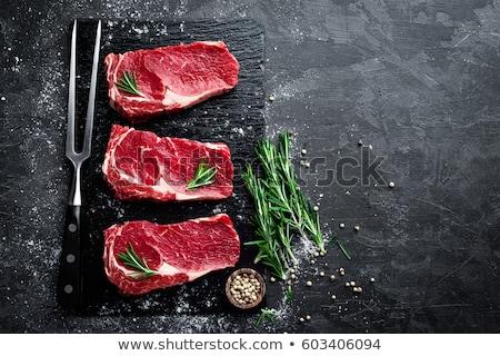 Greggio carne nero top view Foto d'archivio © yelenayemchuk