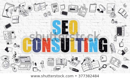 SEO Consulting in Multicolor. Doodle Design. Stock photo © tashatuvango