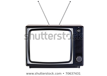 Сток-фото: Television Set With Blank Screen