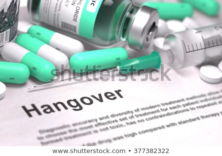 diagnosis   hangover medical concept 3d illustration stock photo © tashatuvango