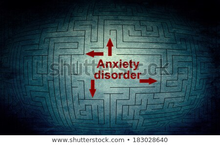 anxiety disorder medical concept on red background stock photo © tashatuvango