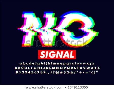 Stock photo: Glitch Error Font Vector Alphabet Letters