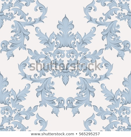 Scroll Filigree Floral Pattern Heraldry Design Stock photo © Krisdog