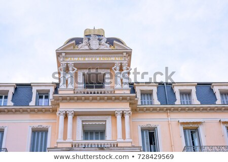 Beautiful View To Palais Des Anglais Apartments At Daylight Foto stock © FrimuFilms