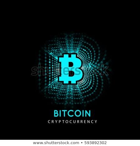 Bitcoin elettronica forma soldi innovativo pagamento Foto d'archivio © m_pavlov
