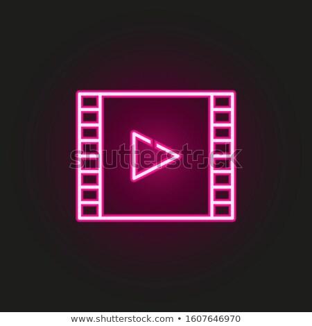 örnek sinema beyaz siyah ikon tahta Stok fotoğraf © Olena