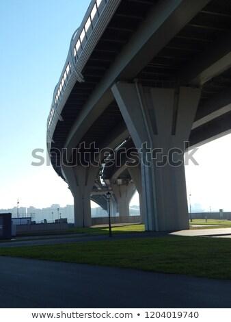 Ponte alto metal cabos céu Foto stock © vrvalerian