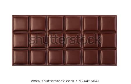 Primer plano chocolate oscuro bar textura dulces grasa Foto stock © deandrobot