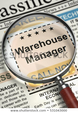 Warehouse Manager Job Vacancy. 3D. Stock photo © tashatuvango