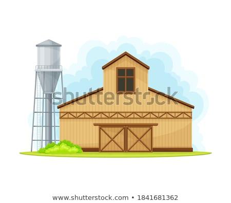 wooden barn shed door stock photo © stevanovicigor