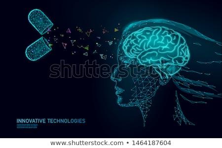депрессия медицина 3d иллюстрации медицинской расплывчатый текста Сток-фото © tashatuvango