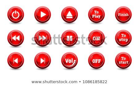 Mano dedo prensa terminar botón hombre 3d Foto stock © tashatuvango