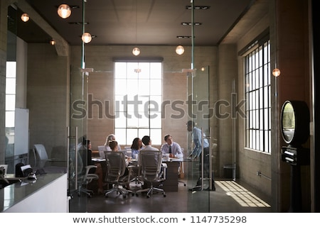 Colleagues at meeting in boardroom Stock photo © IS2