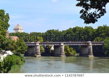 Ponte palatino bridge on the Tiber river of Rome. Italy. Stock photo © Photooiasson