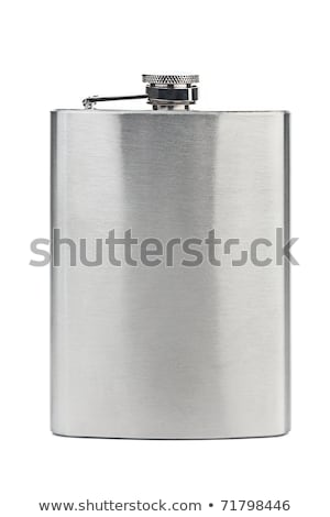 Stainless steel hip flask Stock photo © magraphics