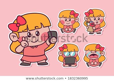 Манга девушки плачу иллюстрация clipart изображение Сток-фото © vectorworks51