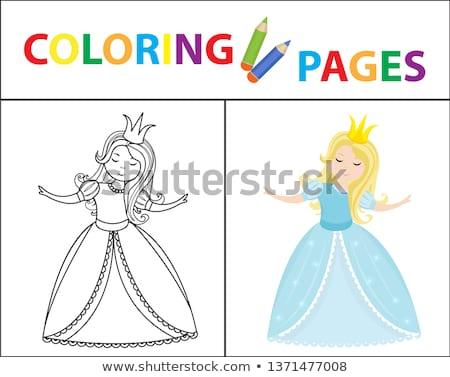 Livre de coloriage page croquis couleur version Photo stock © lucia_fox