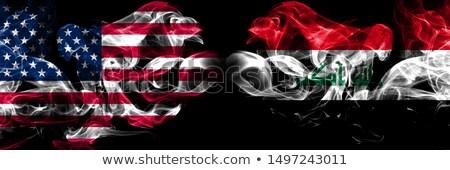 Futebol chamas bandeira Iraque preto ilustração 3d Foto stock © MikhailMishchenko