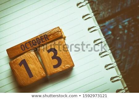 cubes 13th october stock photo © oakozhan