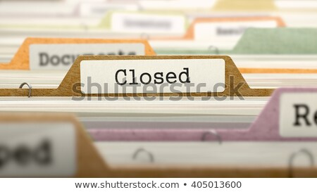 folder index with closed 3d rendering stock photo © tashatuvango