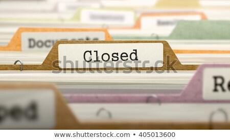 Folder Index with Closed. 3D Rendering. Stock photo © tashatuvango