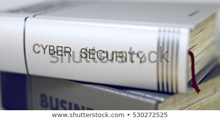 Netwerk veiligheid boek titel 3D Stockfoto © tashatuvango