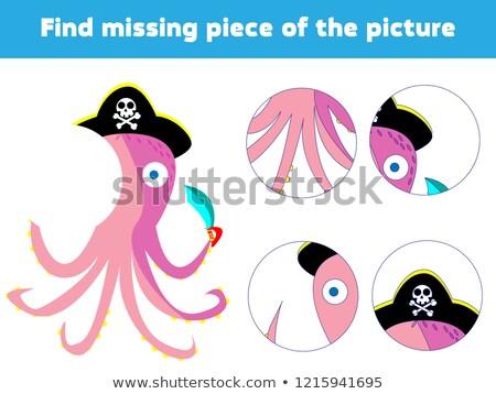 Encontrar desaparecido crianças quebra-cabeça jogo polvo Foto stock © adrian_n