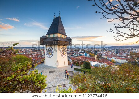The Kunsthaus Graz evening view Stock photo © xbrchx