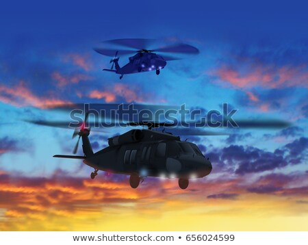 3d · illustration · deux · battant · coucher · du · soleil · ciel - photo stock © anadmist