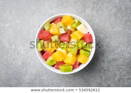 フルーツサラダ · マクロ · クローズアップ · 新鮮果物 · サラダ · 食品 - ストックフォト © mpessaris